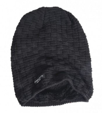 c4617b38730 VECRY Men Knit Beanie Hat Thick Fleece Lined Winter Skull Cap B5050 -  Check-black  VECRY Beanie Fleece Winter Check Black ...
