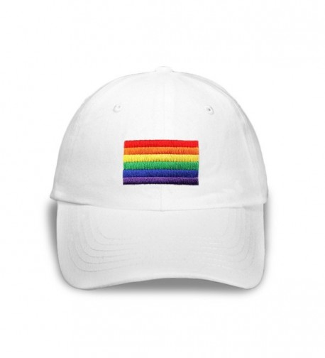 Rectangle Rainbow Hat In White in a Bag (1 Hat - Retail) - C311C4ZU3HL