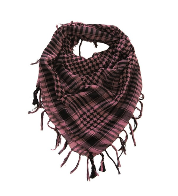 TrendsBlue Trendy Plaid & Houndstooth Check Soft Square Scarf-Diff Colors Avail - Mauve & Black - CT187ON3OSC