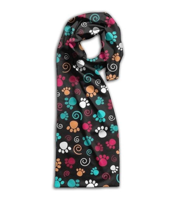 Dog Paw Print Women's Fall Christmas Scarf Light Scarves Infinity Graphic Scarfs For Women Young - White - CJ188LHL4DR