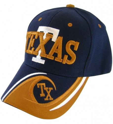 Texas T Wave Pattern Adjustable Baseball Cap - Navy - CG17WYWH946