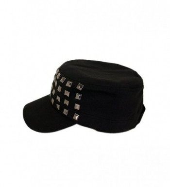 Adjustable Cotton Military Style Studded