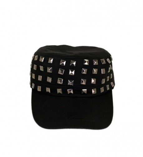 Adjustable Cotton Military Style Studded in Women's Newsboy Caps
