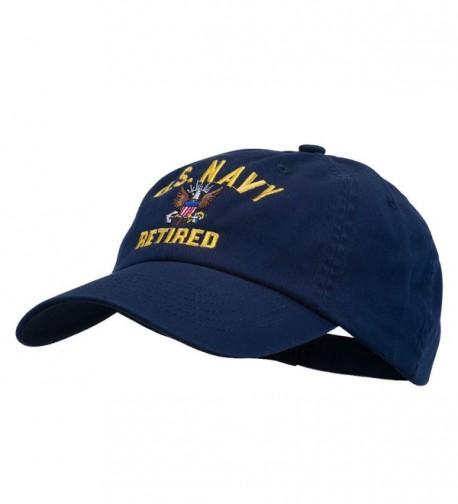 US Navy Retired Embroidered Pet Spun Cap - Navy - CB11USNG59B