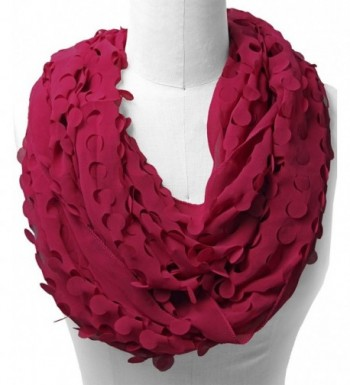 Scarfand's Cut-Out Infinity Scarf - Burgundy - CE11CUL9OP1