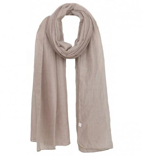 Ayli Women's Solid Color Scarf Long Shawl Lightweight Fashion Wrap Various Colors - Khaki - C0186YMO4HT