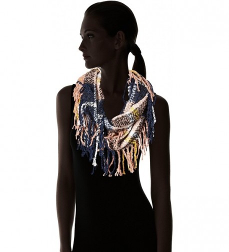 Womens Boucle Plaid Woven Fringe in Fashion Scarves
