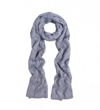 Premium Winter Flame Knit Scarf - Different Colors Available - Gray - CX11GENYOW9