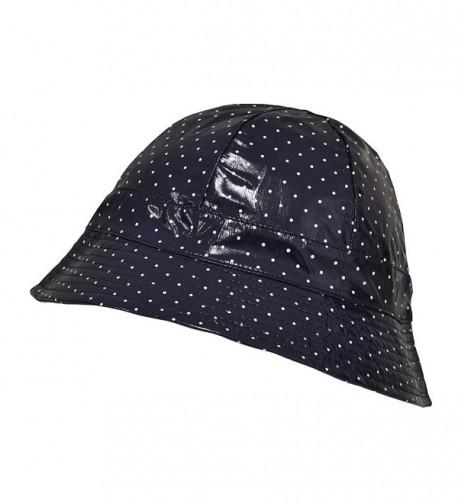 TOUTACOO Waterproof Vinyl Bucket Rain Hat - Polka Dot - Blue - CF11UYFMDI5