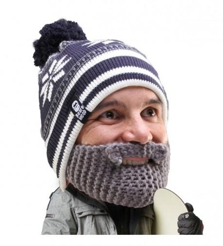 Beard Head - The Original Stubble Bumper Knit Beard Beanie - Grey - CP11DEDO3T1