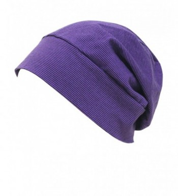 Firsthats Soft Comfy Sleep and Chemo Cap- Hat Liner- Extended - Purple - C4128BU2Y2T