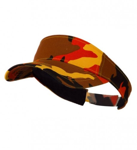 Camouflage Sports Visor - Orange W40S50F - CI11C0N3TFF