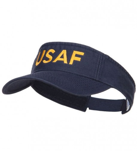 USAF Embroidered Cotton Washed Visor - Navy - C1184WX9CLX