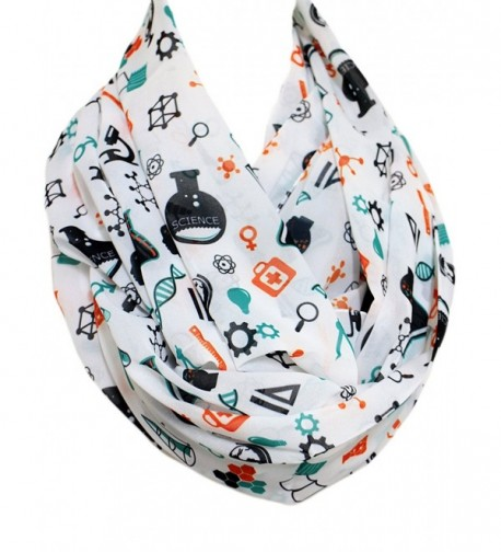 Etwoa's Colorful Science Infinity Scarf Chemistry Scarf Geek Infinity Scarf - C212O7A5VNY