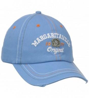 Margaritaville Men's Applique Logo Hat - Blue - CQ11NJU822D