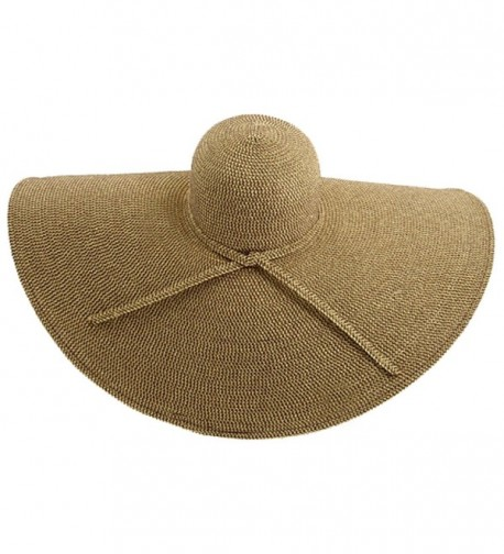 San Diego Hat Company Women's Ultrabraid X Large Brim Hat - Multi Brown - C51172V3V1H