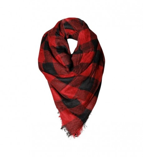 Women's Fashion Warm Winter Blanket Scarf ~ Funky Monkey Fashion ~ Scarves or Shawl - Buffalo Check - CN1874T8K36