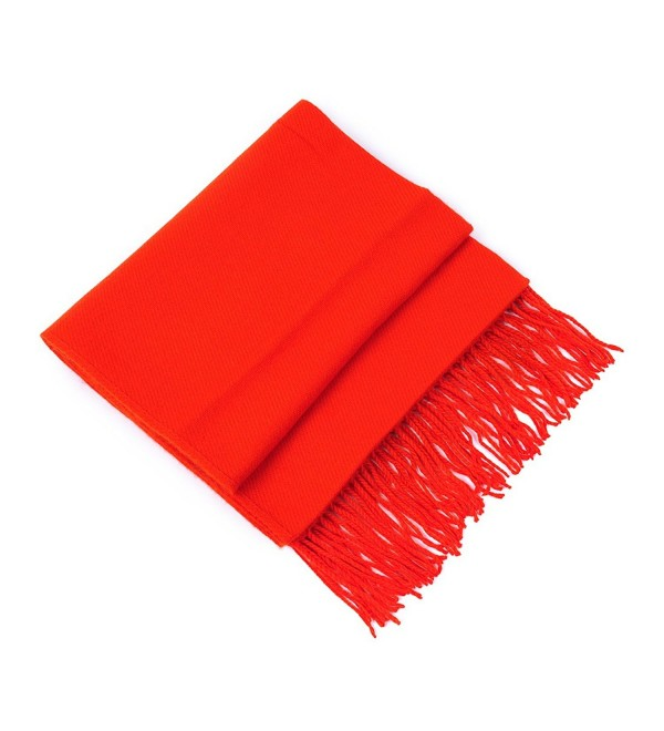 HUAN XUN Blanket Scarf Shawl Cape Poncho Knit Sweater with Tassels Multi Styles - Shawl & Solid - Red - CK11O3J6KF5