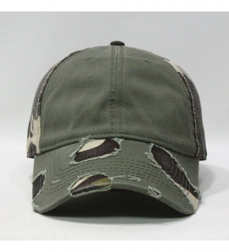 Camouflage Distressed Profile Baseball Adjustable