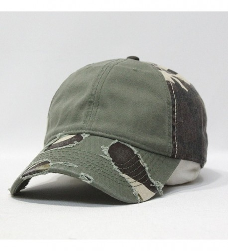 Camouflage Distressed Profile Baseball Adjustable in Men's Baseball Caps