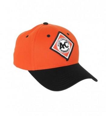 Allis Chalmers Hat- Vintage Milwaukee Logo- Orange and Black - C51274J1LU9