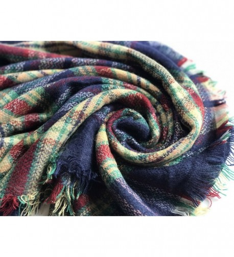 SKYLINK Plaid Blanket Scarfs Season in Cold Weather Scarves & Wraps