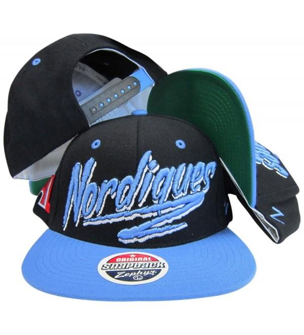 Quebec Nordiques Black/Blue Two Tone Plastic Snapback Adjustable Hat / Cap - CQ1189G26DD