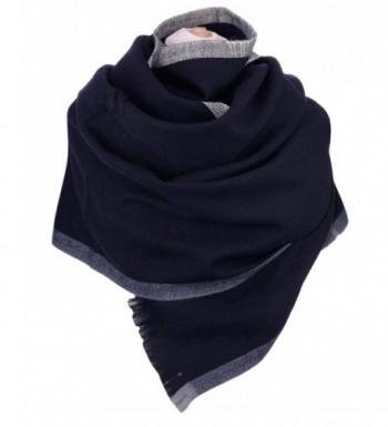 NYFASHION101 Womens Striped Oblong Blanket