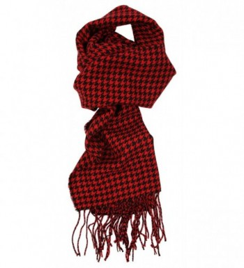 Love Lakeside-Women's Cashmere Feel Winter Plaid Scarf (One- Black and Red Houndstooth) - CO12N1FAZ98