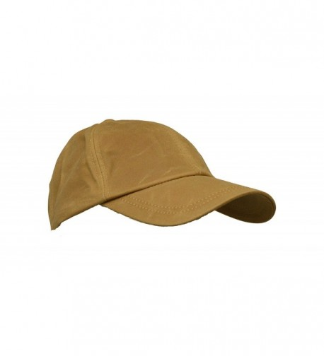 Walker and Hawkes Mens Ladies Wax Baseball Cap 100% Waxed Cotton One-Size - Beige - C011RBZ8RA3