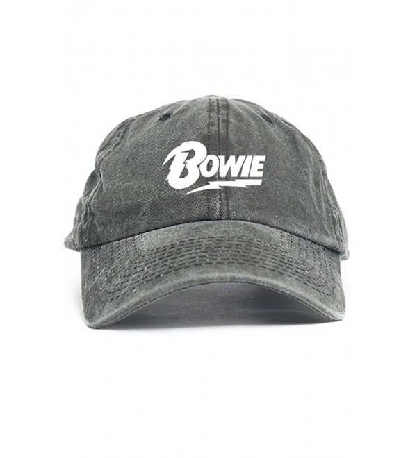 4c9b76ccd David Bowie Unstructured Dad Hat Baseball Cap Black Denim CD12O2TXTAP