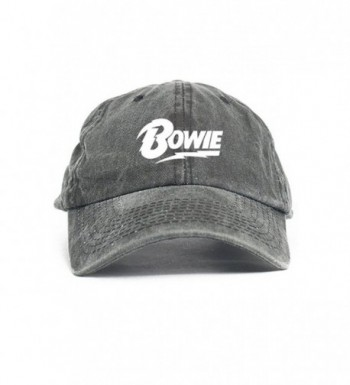 David Bowie Unstructured Dad Hat Baseball Cap - Black Denim - CD12O2TXTAP