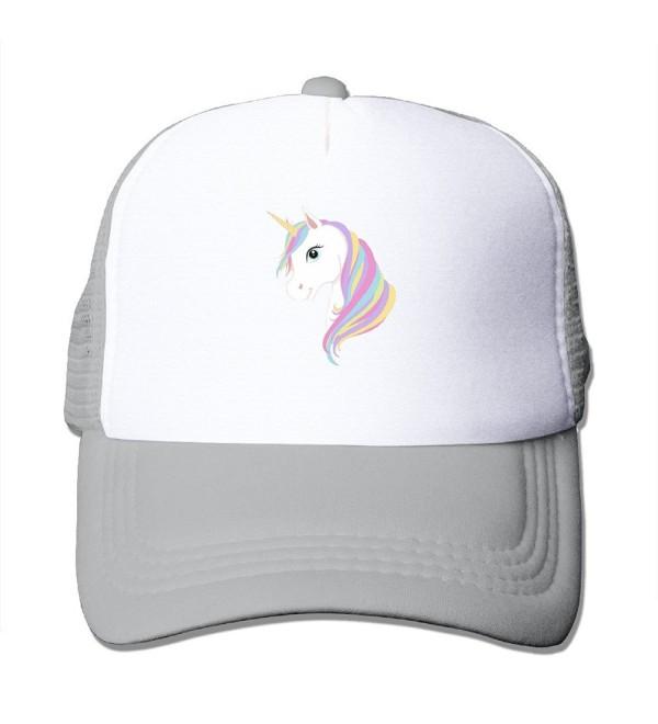 Adult Unicorn Print Caps Funny Baseball Mesh Hats For Men Womens Black - Ash - C0185Y0M7ZD