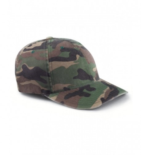 Yupoong Flexfit Cotton Camouflage Baseball Cap 6977CA - Green Camo - C6116FP9CJ1