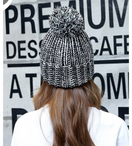 Chalier Womens Knit Pom Beanie in Women's Skullies & Beanies