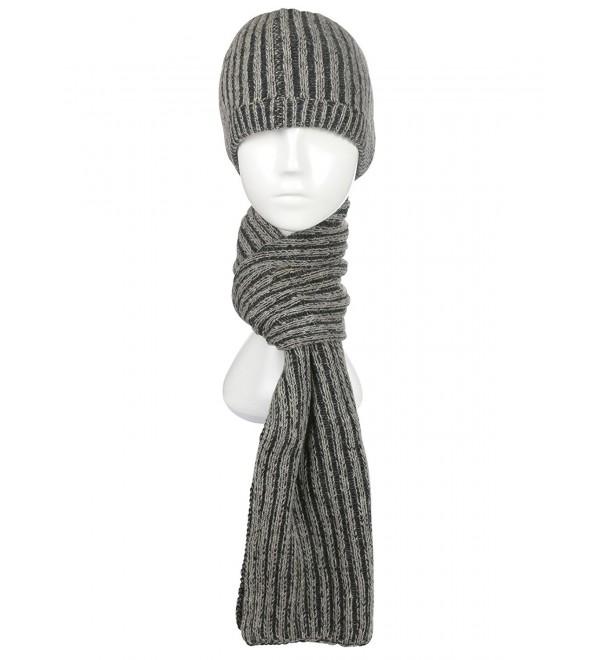 dde6ee4b6ba Ypser Winter Beanie Hat Scarf Set Warm Knit Skull Cap and Scarf for Men  Women -
