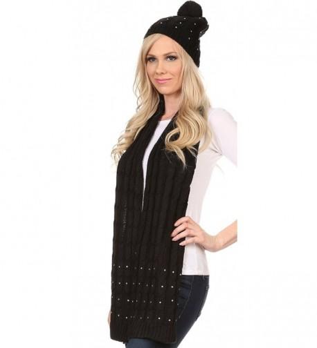 Sakkas CHSS1543 Jewel Studded Beanie in Fashion Scarves