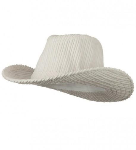 Corduroy Cowboy Hat - Off White - C0118E45F0B