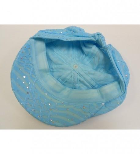 Light Blue Sparkle Newsboy Cap in Women's Newsboy Caps
