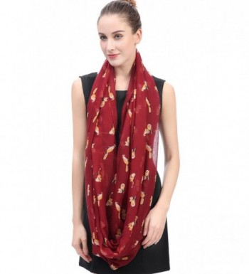 Lina Lily Print Infinity Weight in Fashion Scarves