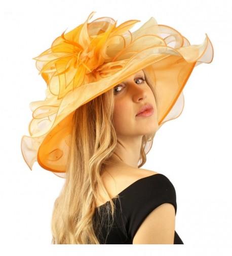 Stylish Ruffle Feathers Organza Hat