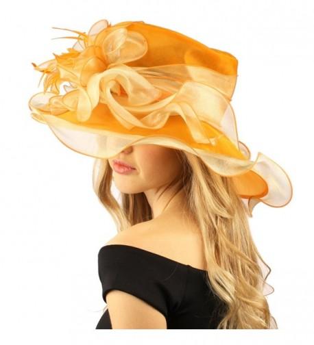 Stylish Ruffle Feathers Organza Hat in Women's Sun Hats