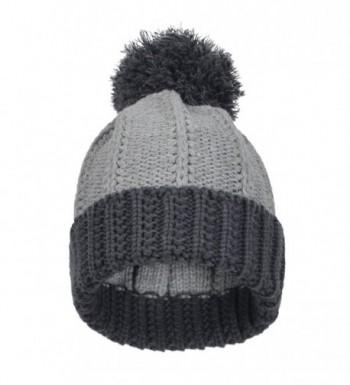 5c1d851e6 Men's Knitted Beanie Pom Hat Winter Thick Crochet Cuff Skull Ski Cap  CX11RWXSNU9