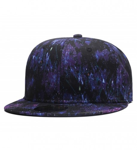 Quanhaigou Galaxy 3D Printed Adjustable Baseball Cap-Unisex Hip Hop Snapback Flatbrim Hats - Purple Galaxy - C4186NZO6LQ