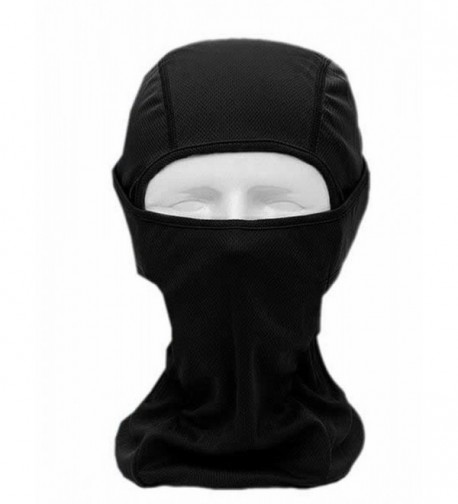 Cruiize Men's Flame Resistant Hood Headwear Balaclavas Full Face Mask - black - CG12O3XIBQ6