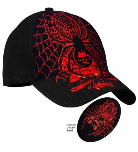 Hot Leathers Black Widow Ball Cap in Black - CU12GZEEPFH