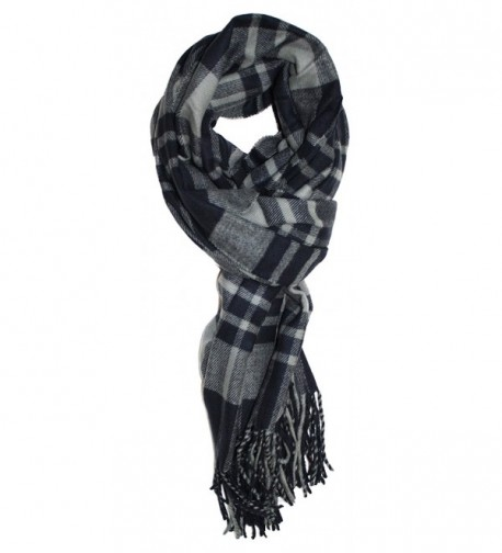 Ted and Jack - Jack's Classic Oversized Cashmere Feel Tartan Plaid Wrap/Scarf - Grey Classic - CH188DUGDWL