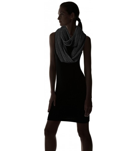 Womens Dots Weaving Solid Black in Fashion Scarves