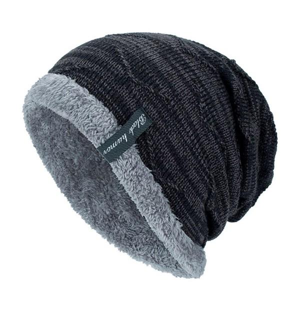 Fullfun Black Humor Unisex Winter Knitting Skull Cap Wool Slouchy Beanie Hat - Black - CQ188NZTTG7