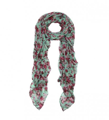 Elegant Floral Print Fashion Scarf Wrap - Different Colors Available - Mint - CJ11P1P75KJ